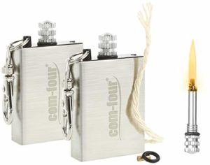com-four® Match de Camping, allumettes éternelles, allumettes permanentes, Briquet de Survie avec Silex comme Porte-clés (02 pièces)
