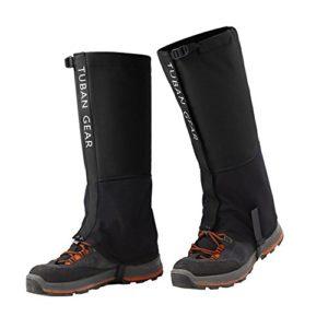 Eagsouni® Guêtres de Randonnée Imperméable Marche Escalade Neige Legging Gaiter pour Activités Extérieures Protection – pour Adultes et Enfants