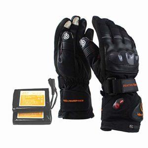 Gants chauffants rechargeables Gants chauffants pour écran tactile avec batterie rechargeable Li-ion chauffants pour hommes et femmes, gants chauds pour cyclisme, randonnée en montagne, ski alpinisme
