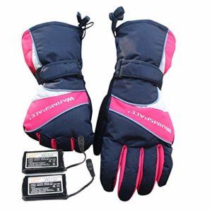 PU-clothing Gants de Ski chauffée Gants Chauffants Gants Chauffants avec Batterie Li-ION Rechargeable Chauffés pour Hommes et Femmes, Gants Chauds pour Le Cyclisme, la randonnée en Moto, Le Ski