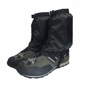 Aesy Guêtres de Legging, Couvre-Jambe de Protection Durable et Imperméable, Guêtres de Neige Légères, pour Le Cyclisme en Plein Air Randonnée en Montagne Ski Escalade Chasse (Noir)
