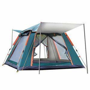 Dasiudaiosud 4 Personne extérieure Automatique Tente Tente familiale Pique-Nique Voyager Tente Camping en Plein air Tente Abri Anti-Pluie Coupe-Vent Tarp Boutique Touristique (Couleur : Silver)
