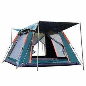 en Plein air, 4 Personne extérieure Automatique Tente Tente familiale Pique-Nique Voyager Tente Camping en Plein air Tente Abri Anti-Pluie Coupe-Vent Tarp Tentes Dome (Couleur : Noir)