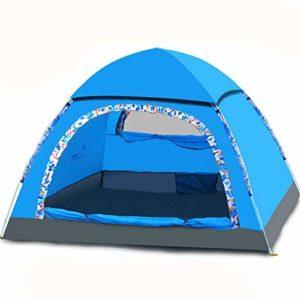 KCJMM Tente de Plage, Tente Pop Up, Tente de Camping 2 Personnes, Tente Solaire Pliable, Protection Solaire, Bleu