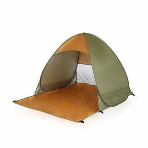 KCJMM Tente de Plage, Tente Pop Up, Tente de Camping Double, Tente Pliante extérieure, Protection UV, Protection Contre Le Soleil, Plage/Camping/Parc/pêche, Vert