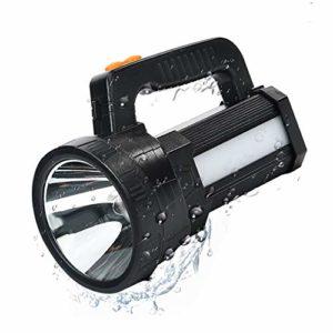 Lampe Torche LED Rechargeable Étanche IPX4, LED 3 En 1 Puissante 9600mAH, Lampe Camping Portable, Lampe de Poche Rechargeable pour Randonnée Camping – Ceinture et Chargeur Fournis (A)