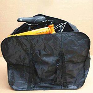Sac de vélo Pliant Vélo Voyage Montagne Bagages Sacs de Rangement emballés Transportant Noir Taille 14-16 Pouces