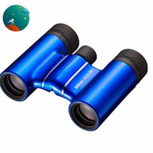 Telescopes Longue-Vues Jumelles Enfant Jumelles Orange Élégantes De Terrain De Football HD Concert Hall De Chasse Portable Travel Trekking (Color : Blue, Size : 8 * 21cm)