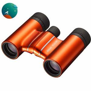 Telescopes Longue-Vues Jumelles Enfant Jumelles Orange Élégantes De Terrain De Football HD Concert Hall De Chasse Portable Travel Trekking (Color : Orange, Size : 8 * 21cm)
