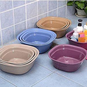 Weizige Lavabo en Plastique lavabo à Vaisselle de Haute qualité Bol à mélanger lavabo Multifonctionnel Peut Laver Les Pieds de Camping/Lavage et Autres lavabos multifonctionnels