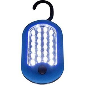 27LED Super Bright Compact étanche Home lampe de travail Lampe de poche à suspendre Bivouac Pêche Camping Randonnée Tente lampe Lanterne, couleur aléatoire