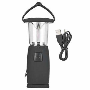 Aeloa Lampe de Camping Solaire extérieure 6 LED Solaire Rechargeable USB Portable lumière de Tente extérieure Lampe
