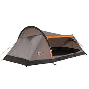 APUS Portail 2–2Personnes Tente Tunnel Tente de, Trekking, avec Grande entrée, 1250g, 2000mm