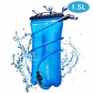 Azarxis Réservoir d'eau TPU Vessie d'Hydratation Poche à Eau Poche Hydratation Sac d'eau d'Hydratation 1,5/2/3 L pour Randonnée Course Escalade Cyclisme (1,5L)
