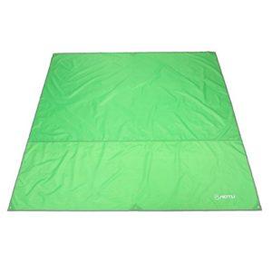 Azarxis Tarp Tapis de Sol Camping Imperméable Bâche Hamac Tapis de Tente Tapis de Plage Abri Parasol Couverture Auvent Légère pour Pique-Nique Randonnée (Vert Clair, L – 240 x 220 cm)
