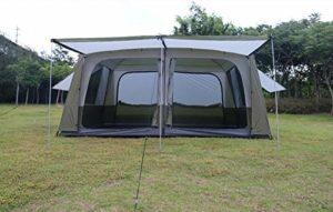 BBX Tente de Groupe Familial avec Pare-Soleil 5000 mm Colonne d'eau Festival Camping Randonnée Trekking étanche en Plein air dôme Tente 8-10 Personnes Windproof abri de Neige