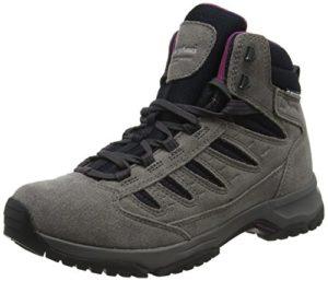 Berghaus Exped Trek 2 Tech, Chaussures de Randonnée Hautes Femmes, Gris (Dark Grey/Black D90), 41.5 EU