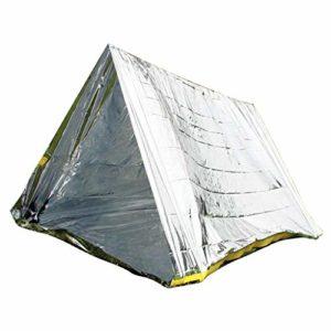 CUTICATE Bâche Tente Anti Pluie, Couverture de Survie d'Urgence, Abri de Randonnée Tapis Étanche Coupe-Vent Anti-Neige Camping