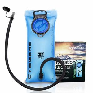 CybGene Vessie d'hydratation, réservoir d'eau de 3 L Couvercle antifuites à Large Ouverture et Couvercle de Tube d'isolation. pour la randonnée, Le vélo et l'escalade (Bleu)