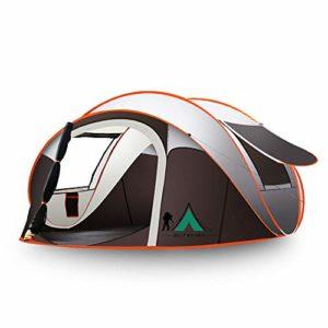 DYB Tente De Camping RéSistant à l'eau Et UV Tente Hors-Sol Double Couche Abri pour La Plage Camping RandonnéE Tente ExtéRieure Portable pour La RandonnéE Escalade pour(Gris)