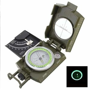Feeyond Trekking Boat Professional Military Army Metal Aiming Compass Camping Level