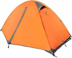 HONGSHENG en Plein air Haut de Gamme Simple Double Porte en Aluminium Pôle extérieur Tente Tente Camping Anti-Storm