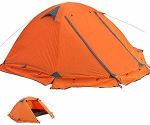 HONGSHENG Tente extérieure Tente Camping Double Pole Anti-Storm Tourisme