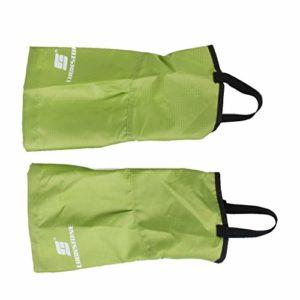 Inzopo 1 Paire Guêtres Jambières Imperméable pour Neige Escalade Randonnée – Petite Taille (Vert)