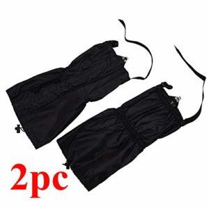 JK-2 2pcs 150D Oxford Tissu guêtres de Marche imperméables pour Le Camping d'escalade de randonnée
