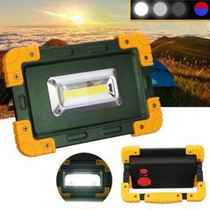 Lanterne d'extérieur de camping – 30 W 3,7 V LED Lampe de travail Spot Inondation USB Rechargeable Tente Lampe – 1 x Lampe de travail 1 x câble
