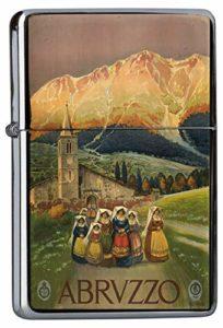 LEotiE SINCE 2004 Briquet Chromé Essence Voyage Cuisine Abruzzo Femmes de l'église du Village de Montagne de Robe Rarement Imprimé