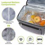 Lifewit Sac de Pique-Nique Sac à Dos Isotherme à Glacière Cooler Backpack Bag, Sac Isotherme Portable pour Déjeuner Plage Pique-Nique Camping BBQ (18L Gris)