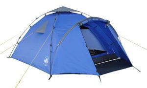 Lumaland Tente de Camping familiale Igloo Pop-up 3 Personnes Camping Festival 220 x 220 x 130 cm Bleu