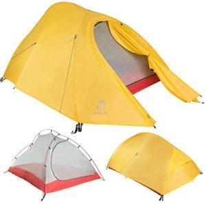 Paria Outdoor Products Tente Bryce Ultra-Légère – Parfaite pour Camping, Backpacking, Randonnées, en Kayak ou Bikepacking (1P)