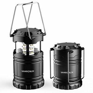 Sahara Sailor [Lot de 2] Camping Lantern Ultra Lumineux LED Lantern- Se replie – Convient pour: randonnée, Camping, urgences, Ouragans, pannes – Super Bright – léger – Résistant à l'eau (1 Pack)
