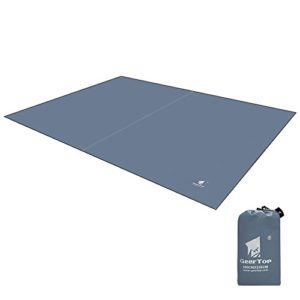 Tissu Oxford Tapis de Sol Bâche de Tente 300 x 220cm pour Camping Randonnée Pique-Nique 4-5 Personnes (Gris)