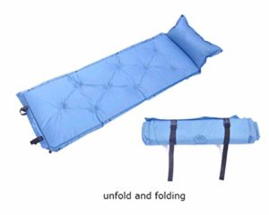 WLLBT Matelas de couchage autonflant avec oreillers, convient pour le camping, la randonnée, la tente, le sac à dos à air 180 x 53 x 3 cm Bleu