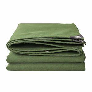 WXQIANG Bâche de Protection en Toile imperméable résistante aux UV pour Voiture, Bateau, Camping, Bois de Chauffage – Vert, 8×10m
