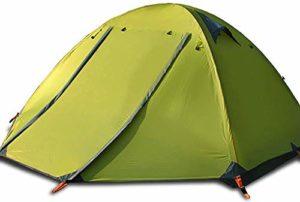 XINTONGSPP Camping en Plein air Camping Tente tripolaire Double Porte en Aluminium Anti-tempête