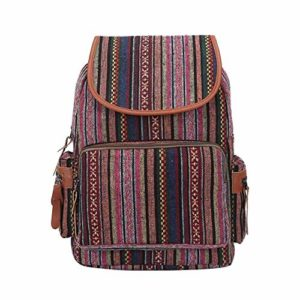 Yutongyi Sacs de Trekking Sac à Dos de Voyage de Sac à Dos de Mode, Boho Ethnic Sac à Dos de Voyage de Femmes de Grande capacité Randonneurs de Sports de Plein air (Color : Pink)