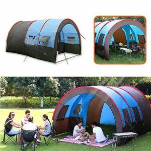 Zhengowen OS Tente Grande Taille Tente de Camping en Plein air Playhouse 8-10 Personnes Tente étanche Famille Double Couche Canopy Pare-Soleil Tennt Tente dôme extérieure Unisexe