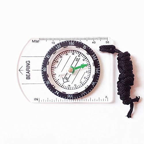 CELINEZL Randonnée Professional Mini Compass Map Scale Ruler Équipement Multifonctionnel Outdoor Randonnée Camping Survie Randonnée