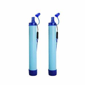 Chiatai Filtre à eau de paille portable pour le camping, la randonnée, les voyages, Lot de 4