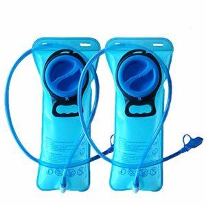 CSDSTORE Paquet de 2 vessies d'hydratation de 2 litres – Réservoir d'eau de Remplacement Robuste – Capuchon étanche – Idéal pour la randonnée, Le Camping, la randonnée à vélo et la Chasse