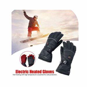 Gants Chauffants électriques avec réglage de la température et Batteries au Lithium pour Homme et Femme – Chauffe-Mains à Piles pour Escalade, randonnée, Cyclisme