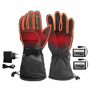 Gants chauffants pour homme et femme – Pour l'hiver – Rechargeables – Gants chauffants – Gants thermiques – Gants isolants thermiques – Écran tactile – escalade – Ski – Chasse à la main M –