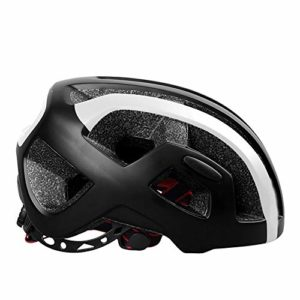 GLH Casque de Cyclisme Casque Monobloc Casque de vélo de Montagne (Couleur : Black)