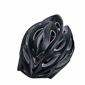 GLH Casque de vélo Casque Monobloc mâle équitation Bicyclette vélo de Montagne vélo de Route Casque Femme (Couleur : Black)