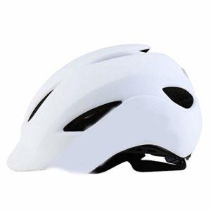 GLH Casque de vélo de Montagne intégré Moulant Hommes et Femmes Route Chapeau de sécurité Auto-Cyclisme Balance électrique équipement de Voiture (Couleur : Blanc)