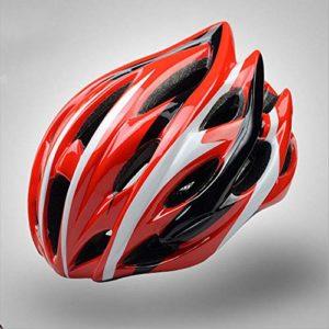 GLH Casque Monobloc Chapeau de vélo de Montagne Casque d'équitation de vélo pour Hommes et Femmes Super léger (Couleur : Rouge)